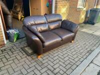 two seater leather sofa Next Delivery available