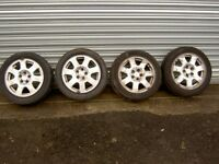 audi a2 15inch alloy wheels and new dunlop tyres