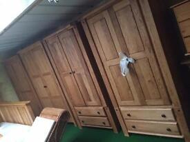 Solid oak wardrobes sale