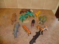Jungle animals with storage tub