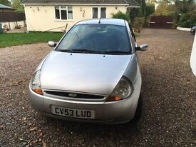 FORD KA 3DR 1.3L 53 PLATE, 84,000 12 MONTHS MOT 5 SPEED GEARBOX AND COMES WITH CD PLAYER