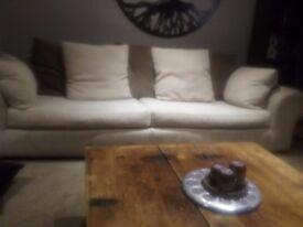 sofas 2x 4 seater sofas