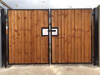 Steel clad gates