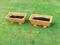 Rustic handmade garden troughs £10 each