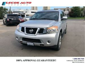 2011 Nissan Armada Platinum Edition/7Psngr/Tv/4X4/Leather/LOADED