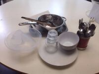 Dinnerware and others