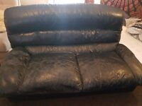 2 Seater Leather Couch and Armchair