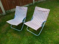 2 x Gelert folding camping/beach chairs