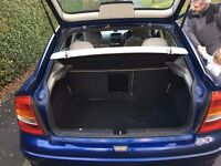 Vauxhall Astra, blue, 2003, good condition for age, MOT sept 2017