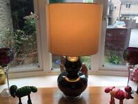 Large glass bottom lamp