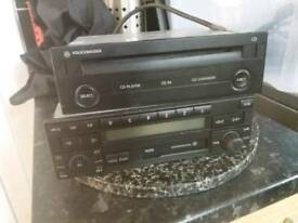 Car radio and CD changer.