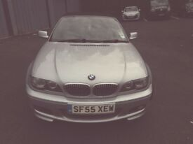 BMW 3 series 318ci Msport convertible lci facelift 2 litre petrol silver with spoiler