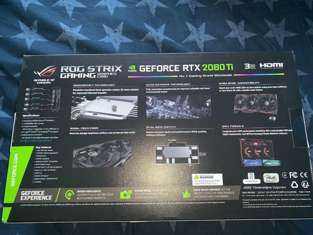 ASUS ROG STRIX 2080ti Advanced Edition | in Canning Town, London | Gumtree
