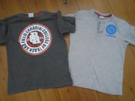 2 Boys Carbrini T shirts 8/9 good condition