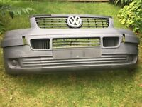 VW T5 2004 Transporter front bumper plus grill and badge