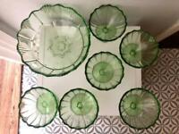 Vintage Glassware - Dessert/Salad Cups & Bowl Set