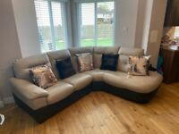 DFS Leather corner Sofa in Excellent Condition