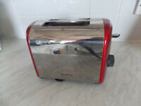 Breville 2 slice toaster, red and silver, wide slots