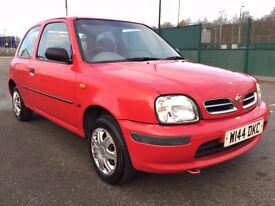 2000 w REG NISSAN MICRA 3 DOOR IN RED - 2 OWNER CAR - BARGAIN
