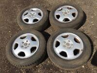 "Vauxhall Astra / vectra / Zafira 15"" alloy wheels - good tyres"