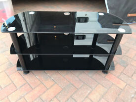 Large glass TV Stand (free local delivery)