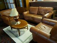 Multiyork tan leather sofas