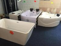 Whirlpool baths and taps to clear