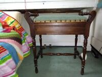 Lovely old style piano stool with storage space for sheet paper/books.