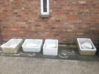 4 Different Size Belfast Sinks....(£10pound each) COLLECTION ONLY THANKS