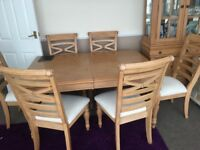 Teak dinning table with chairs