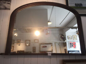 Over the Mantle Style Mirror in good condition . feel free to view size H 28 in W 40 in