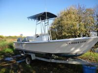 19ft Aquasport Cruiser Boat with Twin 45HP 4 Stroke Honda Outboards and Trailer