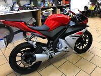 2015 Yamaha yzf125r 1230 miles very clean £2899 finance etc