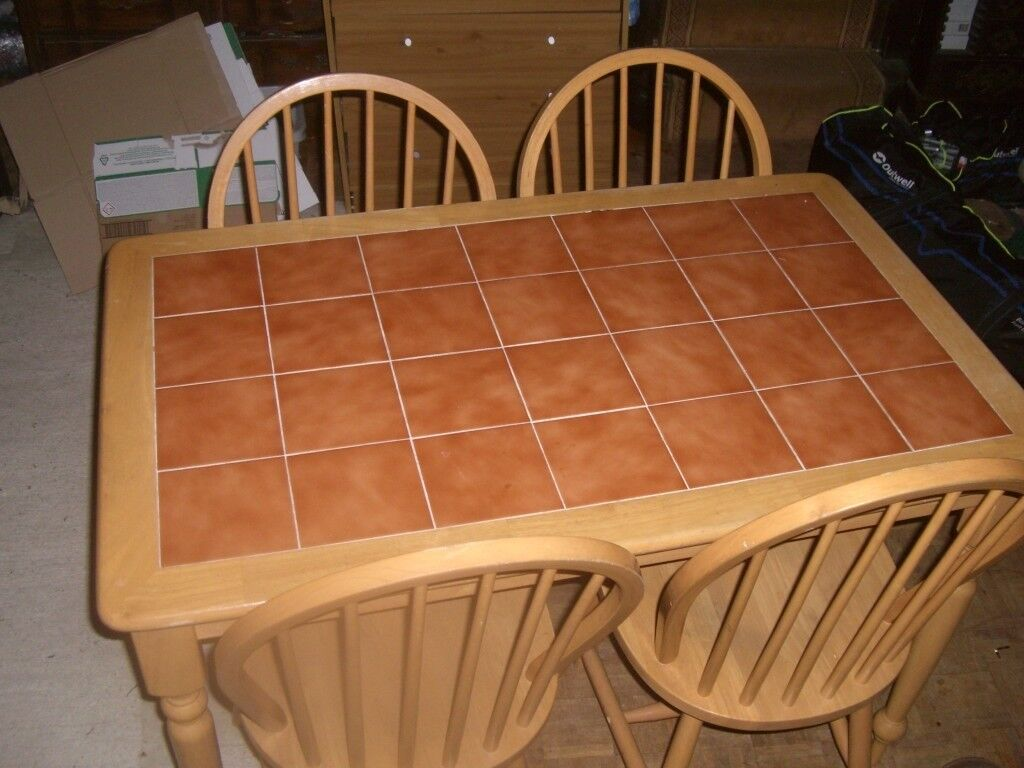 47 inch/ 30 inch dining table and 4 chairs | in Clacton-on-Sea ...