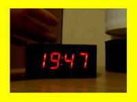 ALARM CLOCK DIGITAL - HOME OR TRAVEL - 24 HOUR TIME DISPLAY - BATTERY or MAINS