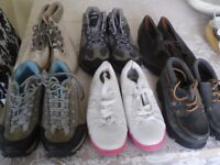 LADIES SIZE 5, TRAINERS, BOOTS, X 5 PAIRS