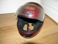 Motor Cycle Helmet Large Burgundy Maverick Yes Italian Helmet