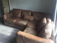 Leather corner sofa DFS 2 years old