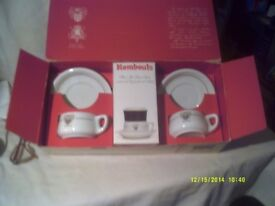 RUMBOUTS COFFEE SET ? 2 CUPS & SAUCERS PLUS COFFEE & FILTERS all In ORIGINAL BOX ++