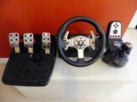 PC / PS2 / PS3 Steering wheel, Logitech G25.