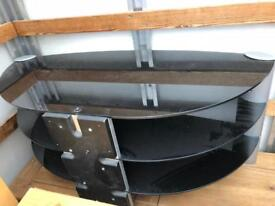 Black Glass tv table (Delivery available)