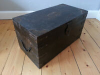 Wooden Storage Chest with metal handles - £10