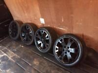 "17"" 5x110 Vauxhall zafira Astra black snowflake alloy wheels"