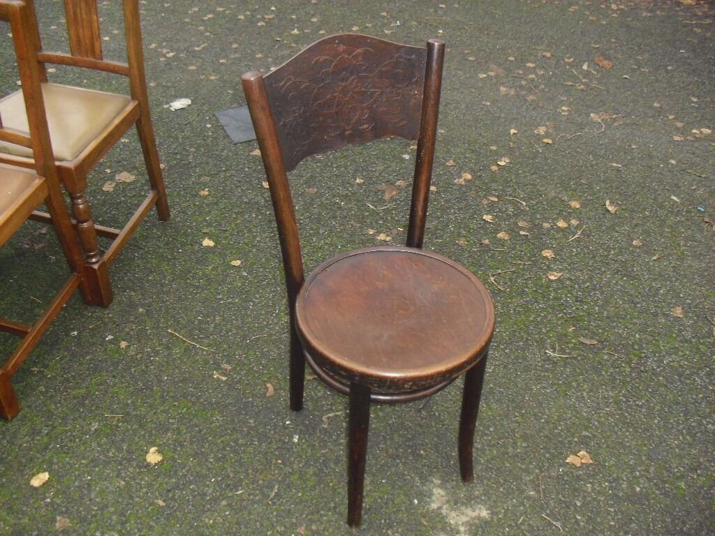 Antique thonet bentwood chair - Antique Thonet Bentwood Cafe Bistro Chair Decorative