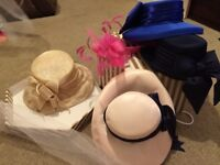 Box of 4 dress hats and fascinator