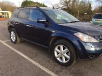 2006 NISSAN MURANO CVT in blue 3498cc AUTOMATIC