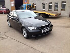 08 plate bmw 320se black met 70000miles full leather and cruise £5650