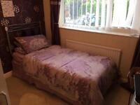 Single divan bed.