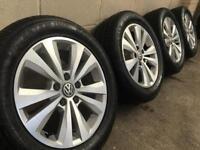 "GENUINE VW 16"" TORONTO GOLF ALLOYS w/NEW TYRES - CADDY TOURAN MK5 MK6 MK7-PX FITTING-SLOUGH HEATHROW"