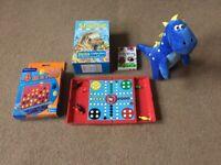 Children's travel games/Box of books/ Dinosaur toy